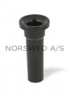 Short Noise Pipe 23mm black