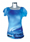 T-Shirt North light Female, blue
