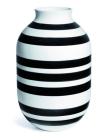 Kähler , Omaggio vase, svart/hvit, H500