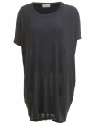 Barfota, Knitted thin dress dark grey