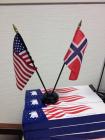 Bordflagg USA/Norge