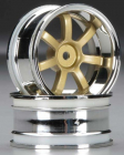 HPI 3320 Racing Rays Gram Lights 57S-PRO Chrome/Gold 6mm (2)