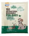 100 Antibac Nedbrytbare Hundeposer m/duft