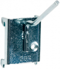 Vinklet enkeltkrok 4 X 50 mm.