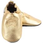 skinntøffel stjerne gull glatt