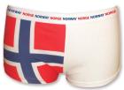 Dameboxer i norsk flagg