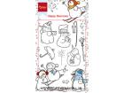 MARIANNE DESIGN STEMPEL - 1609 - HAPPY SNOWMEN