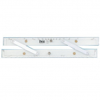 "Parallellinjal (parallel ruler) 15"" (380 mm) - Aluminium"
