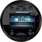 Marine stereo DAB+, rund