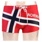 Badebukse i norsk flagg