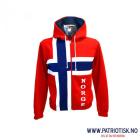 College-jakke m/hette i norske farger