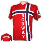 Supporter t-skjorte i norsk flagg, voksen