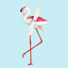 Flamingo med bevegelige vinger