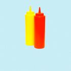 Ketchup og sennep flasker