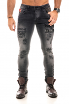 Metallic Jeans - Black