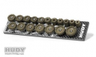 Hudy 107152 Set of 18 Alu Pinions 48P with Caddy 12T-29T