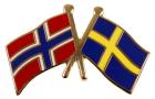 Vennskaps pin Norge - Sverige