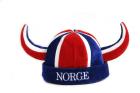 Vikinghjelm i norsk flagg