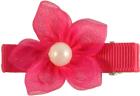 Hårspenne, hot pink 183 med perle,  Den lille prikken over i'en