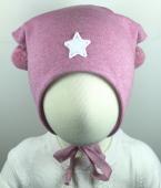 Bilde av lue cotwool knytting rosa med