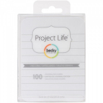 PROJECT LIFE - CARDSTOCK 93707 - LINED CARDS 3X4