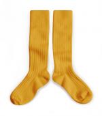 Bilde av knestr�mper honning gul