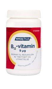 Bilde av NYCOPLUS B12-VITAMIN 9MCG 100 TABLETTER