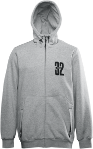 Bilde av Zip Hood - Thirtytwo Stamped Zip Fleece Grey/Heather