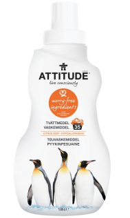 Tøyvaskemiddel sitron, Attitude 1050 ml