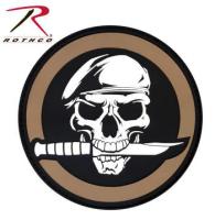 Patch - Military Skull & Knife Morale - PVC