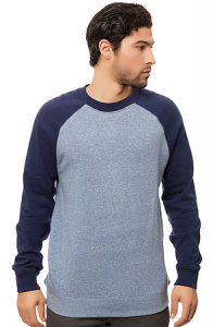 Bilde av Crew Neck - Brixton Smith Heather Blue/Navy