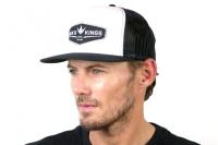 Bunker Kings Trucker Crown Patch Cap - Black/White