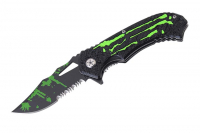 Fantasy Zombie Style Foldekniv - Green