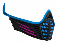 Virtue VIO Facemask - Cyan/Pink/Black