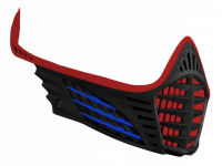 VIO Facemask - Red/Blue/Black