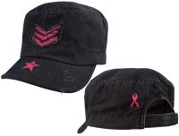 Fatigues Caps med Rosa striper