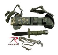 Combat Knife med leggslire - ACU