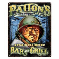 Vintage Steel Sign - Pattons Bar and Grill