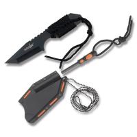Survivor Neck-Knife med Firestarter - Sort