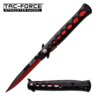 MTech - Stiletto Style Foldekniv - Red/Black