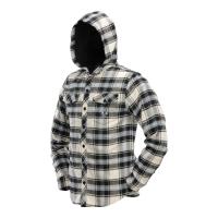Dye Hooded Flannel Black/Blue/Tan - Strl. XL