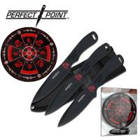 Kasteknivsett Ninja Style med 3 Kniver og Blink