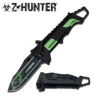 Zombie Hunter Chainsaw Foldekniv - Gr�nn