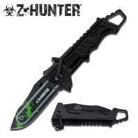 Zombie Hunter Chainsaw Foldekniv - Sort