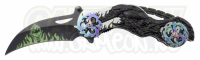 Fantasy Ghost Motorcycle Foldekniv - Black