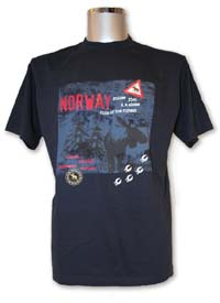 Bilde av T-skjorte, fareskilt elg, navy