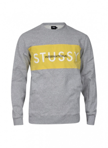 Bilde av Crew Neck - Stussy Int. Panel Crew Heather Grey