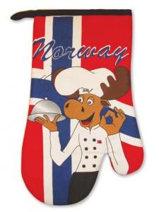 Bilde av Grillvott i norsk flagg