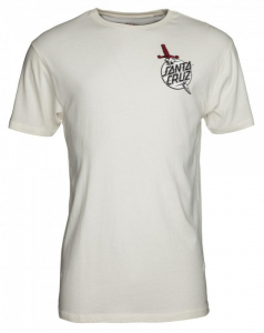 Bilde av T-skjorte - Santa Cruz Flash Hand Colour Tee / Vintage / White