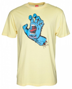 Bilde av T-skjorte - Santa Cruz Screaming Hand Tee / Lemon